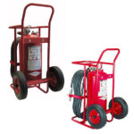 AMEREX DRY CHEMICAL STORED PRESSURE WHEELED EXTINGUISHERS